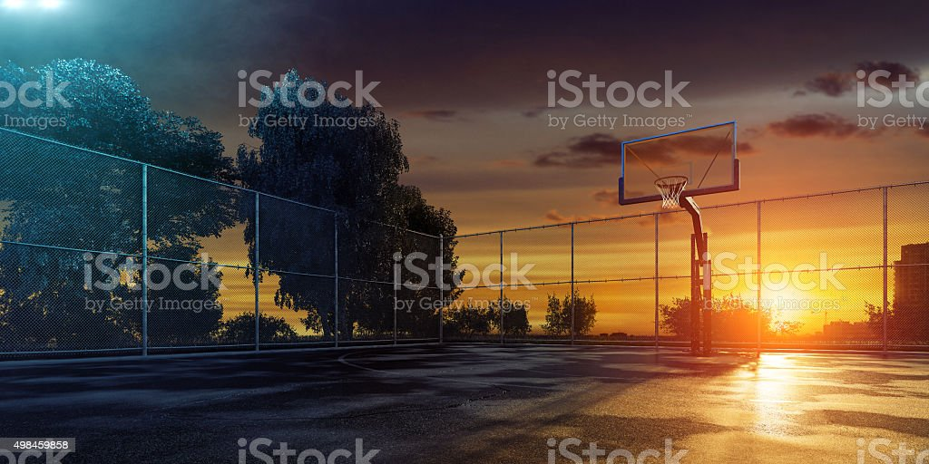 Streetball Playground stock photo