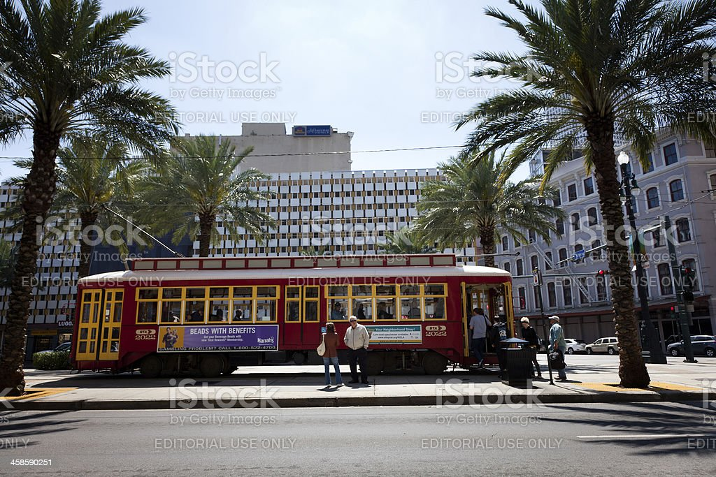 Streetcar in New Orleans royalty-free stock photo