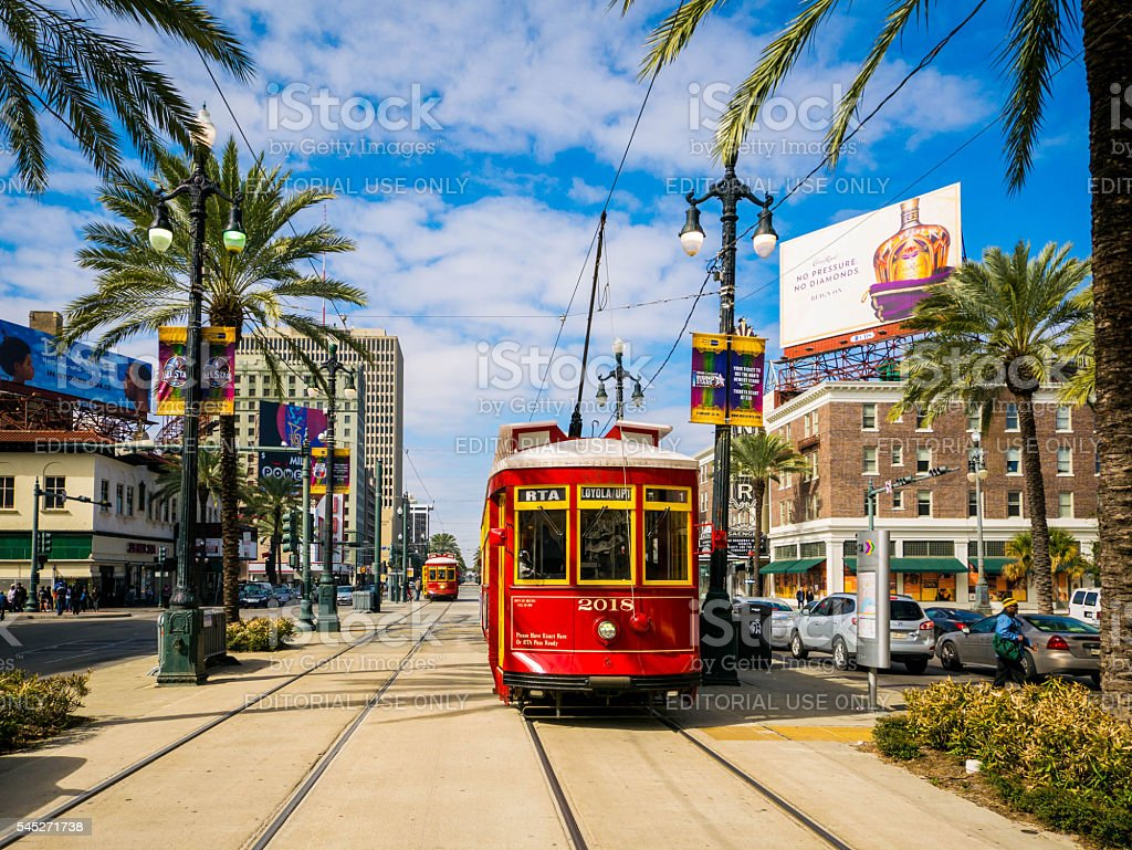 Streetcar in New Orleans stock photo