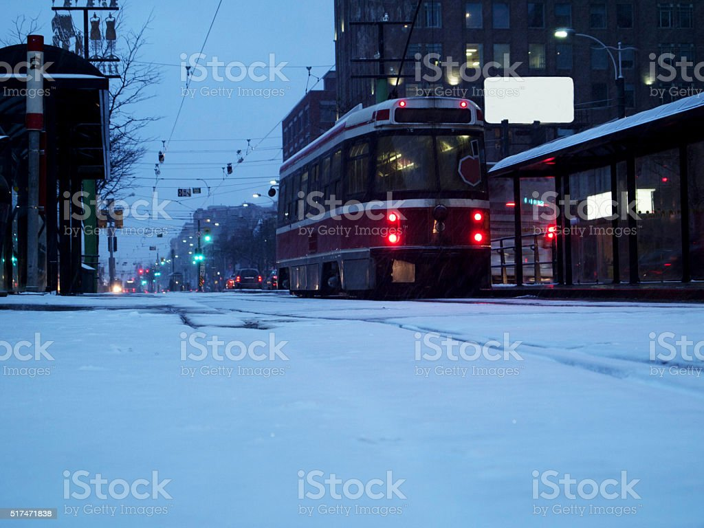 Streetcar in Toronto stock photo
