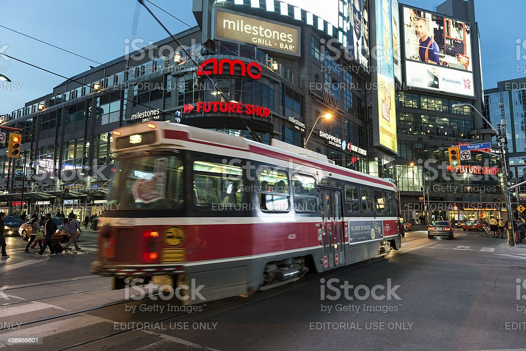 Streetcar on Dundas royalty-free stock photo