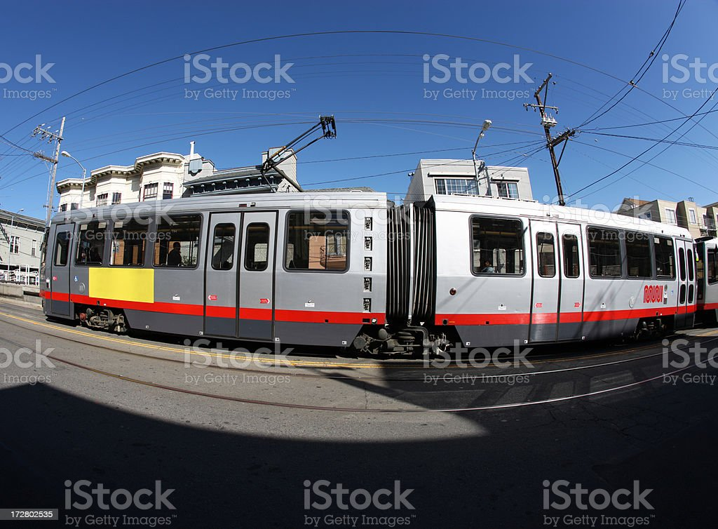 Streetcar royalty-free stock photo
