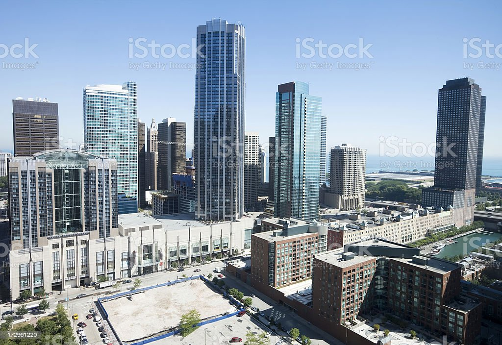 Streeterville Apartments in Chicago stock photo