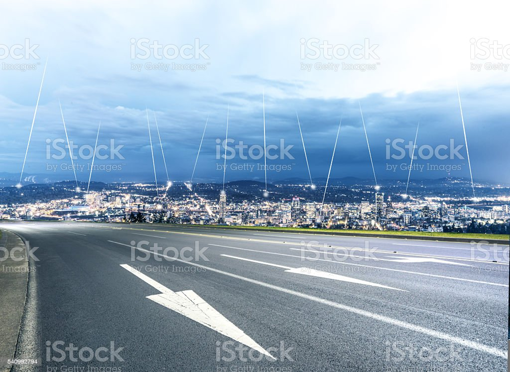 street,intelligence cityscape and skyline of seattle stock photo