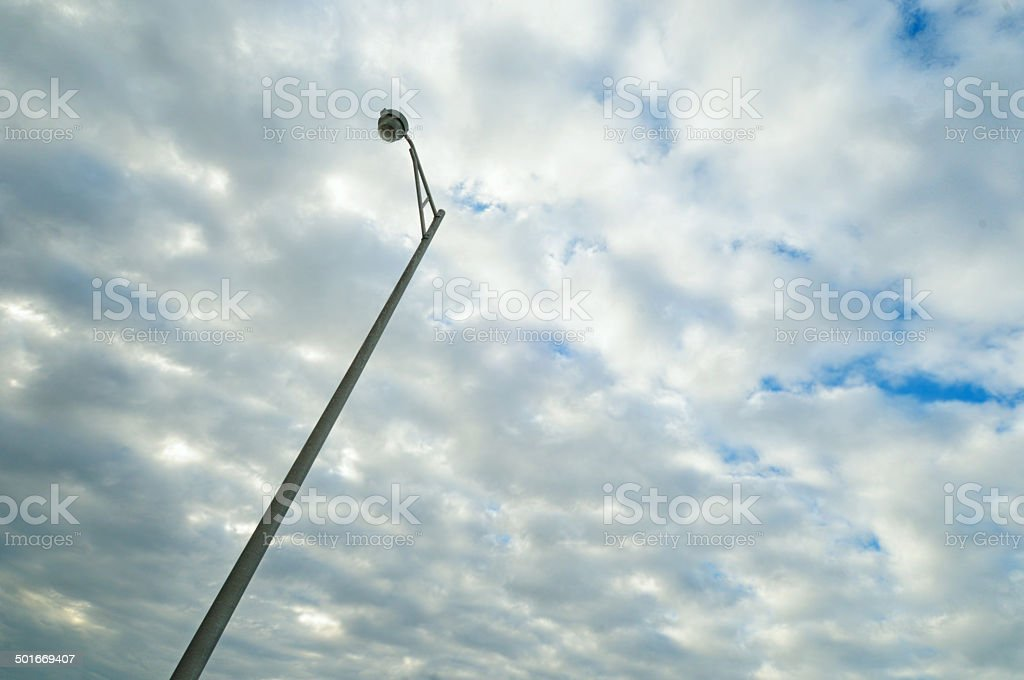 Streetlamp Against the Morning Sky royalty-free stock photo