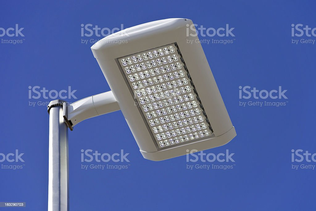 LED Streetlight against a Clear Blue Sky royalty-free stock photo