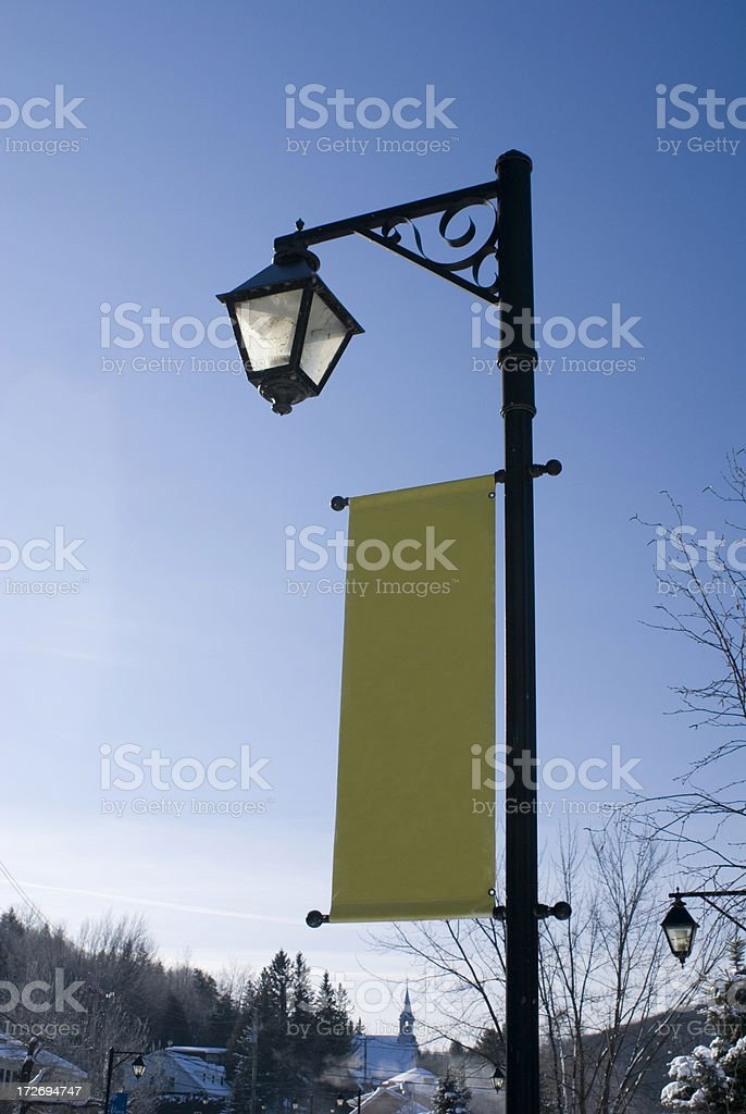 Streetlight Banner stock photo
