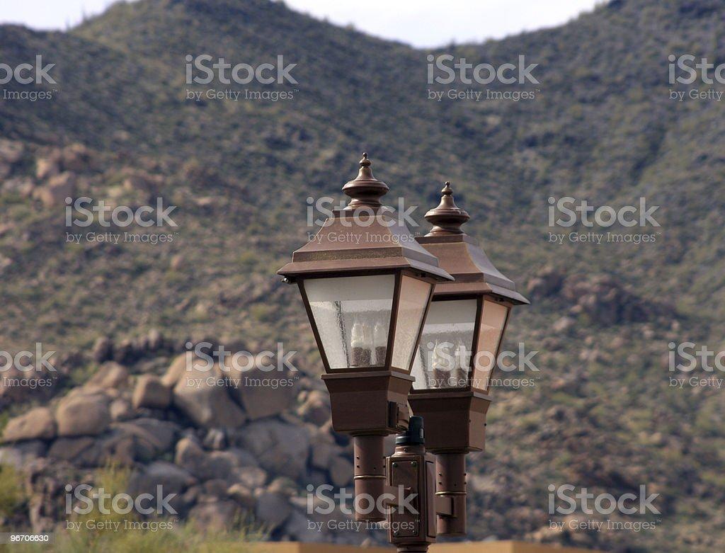 Streetlight in Carefree stock photo