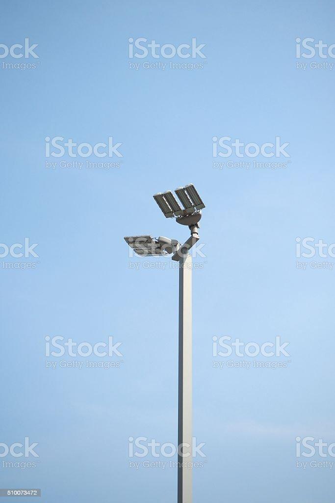streetlight with blue sky stock photo