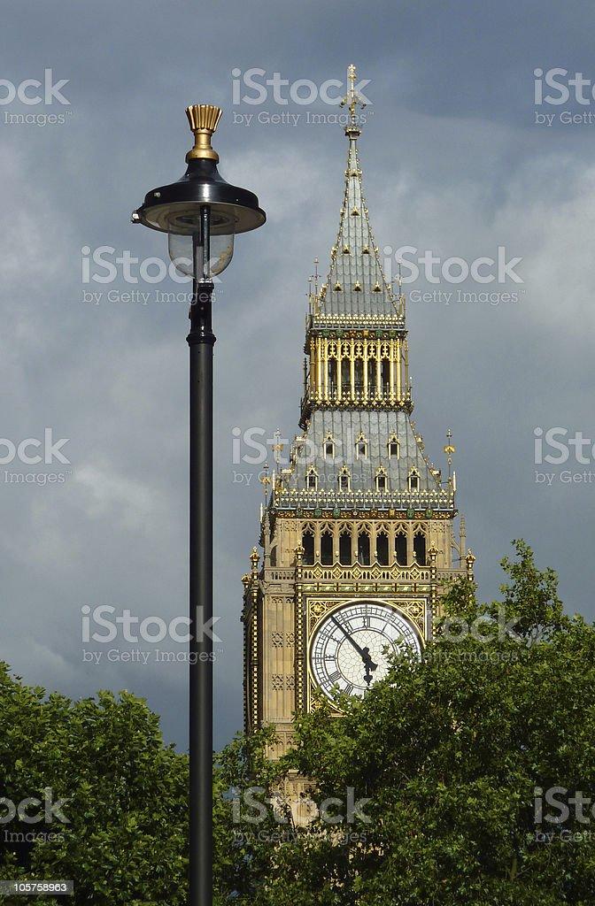 Streetlight with London Big Ben royalty-free stock photo