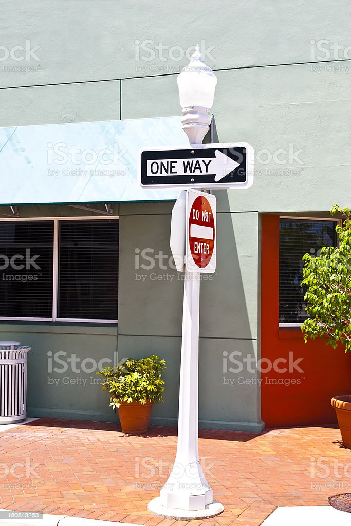 Streetlight with traffic signs royalty-free stock photo