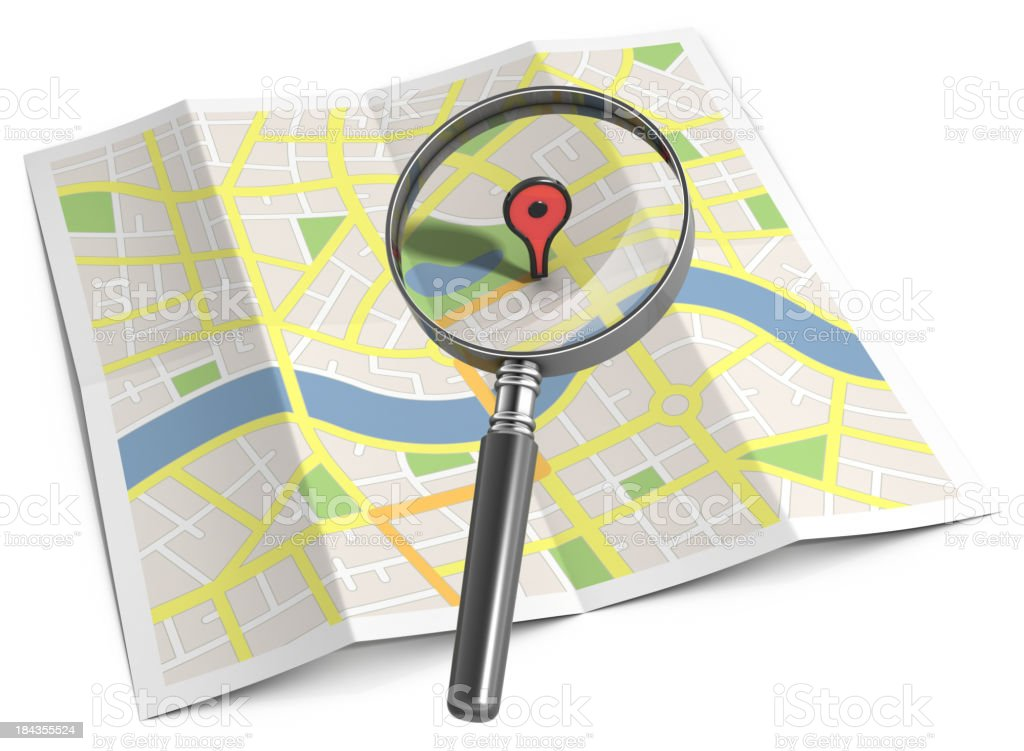 Streetmap search location marker stock photo