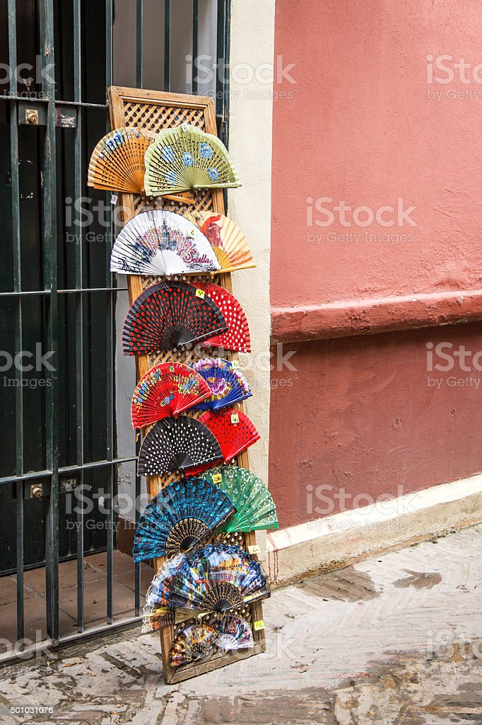 Streets and corners typical of Seville in Spain stock photo