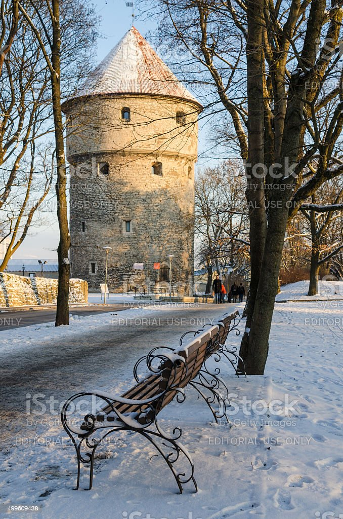 Streets And Old Town Architecture Estonian Capital stock photo