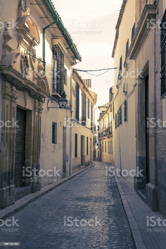 Streets in a white village of Andalucia, southern Spain royalty-free stock photo