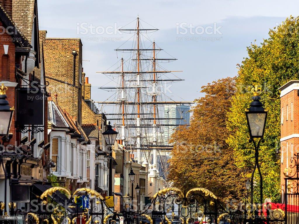 Streets in Greenwich Village London stock photo