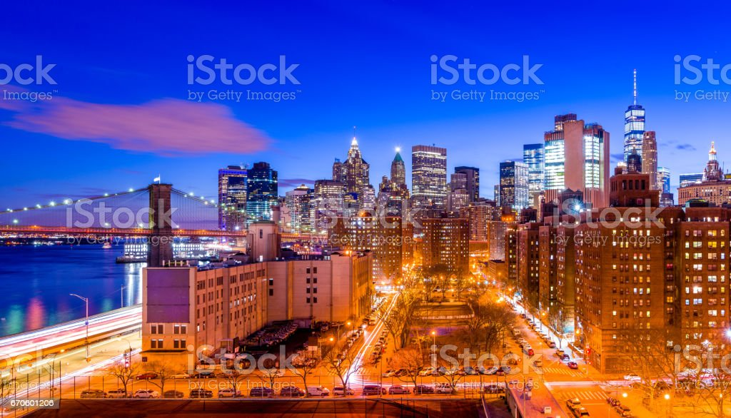Streets in Manhattan stock photo