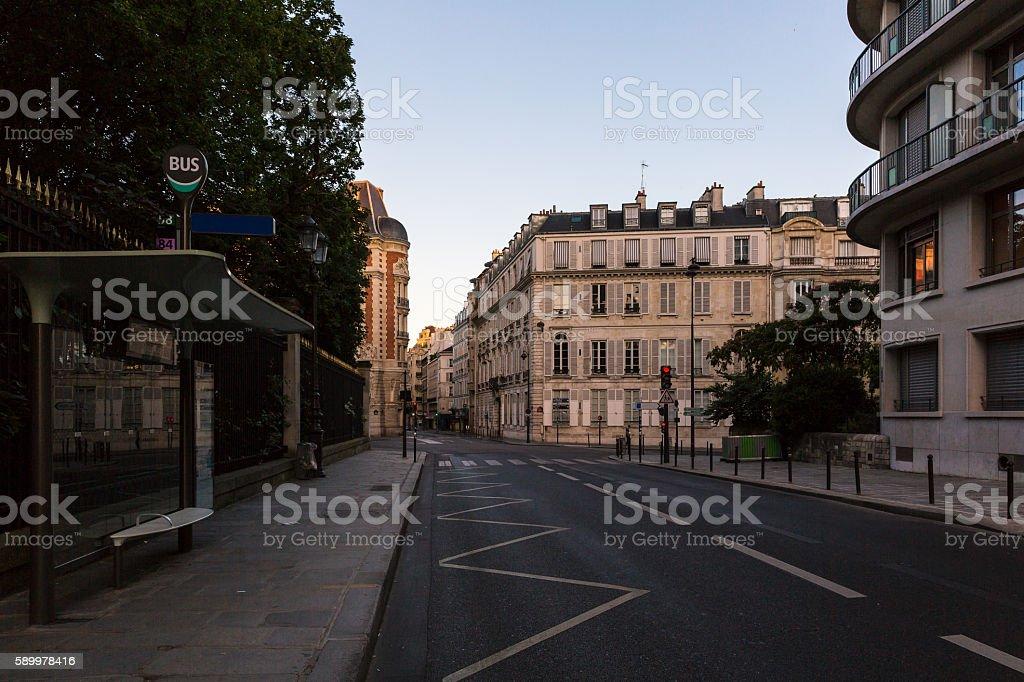 streets in paris stock photo