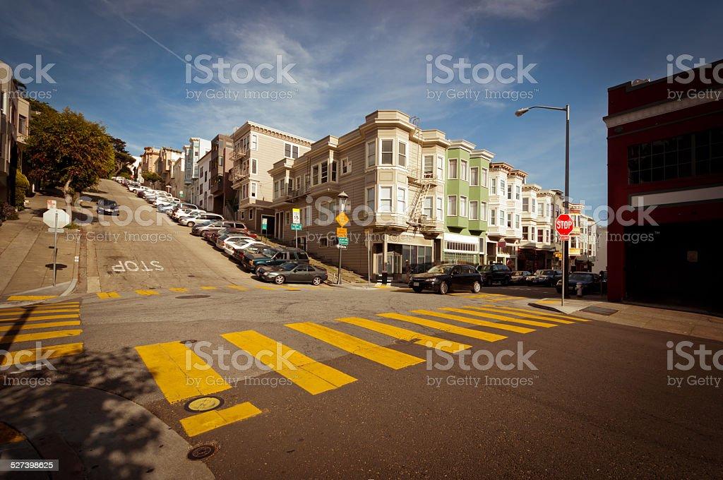 Streets in San Francisco stock photo