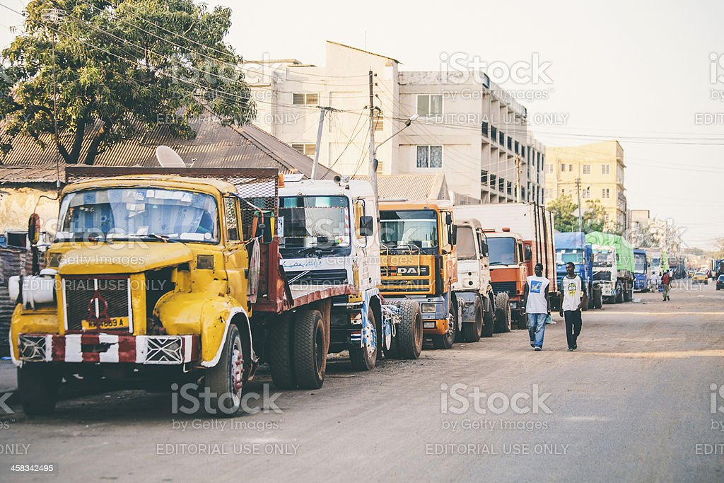 Streets of african town. royalty-free stock photo