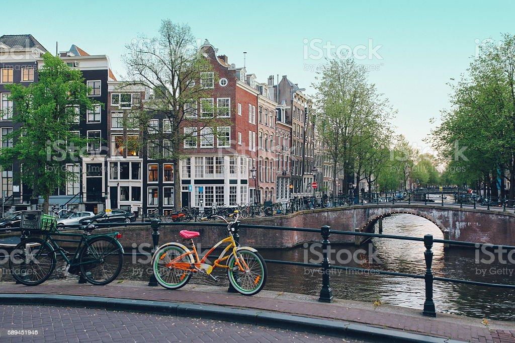 Streets of Amsterdam stock photo