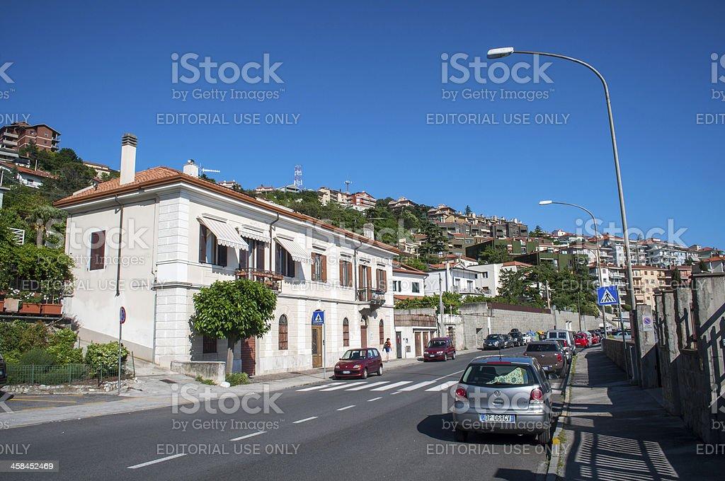 Streets of an Italian city royalty-free stock photo