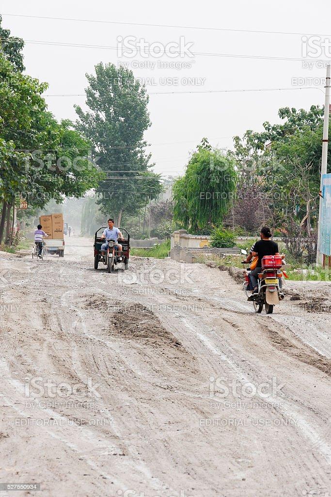 Streets of Anwu stock photo
