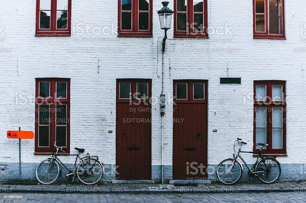 Streets of Belgium stock photo