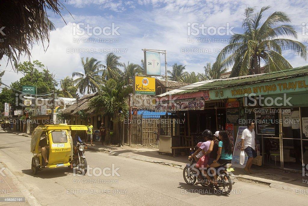 Streets of Boracay royalty-free stock photo