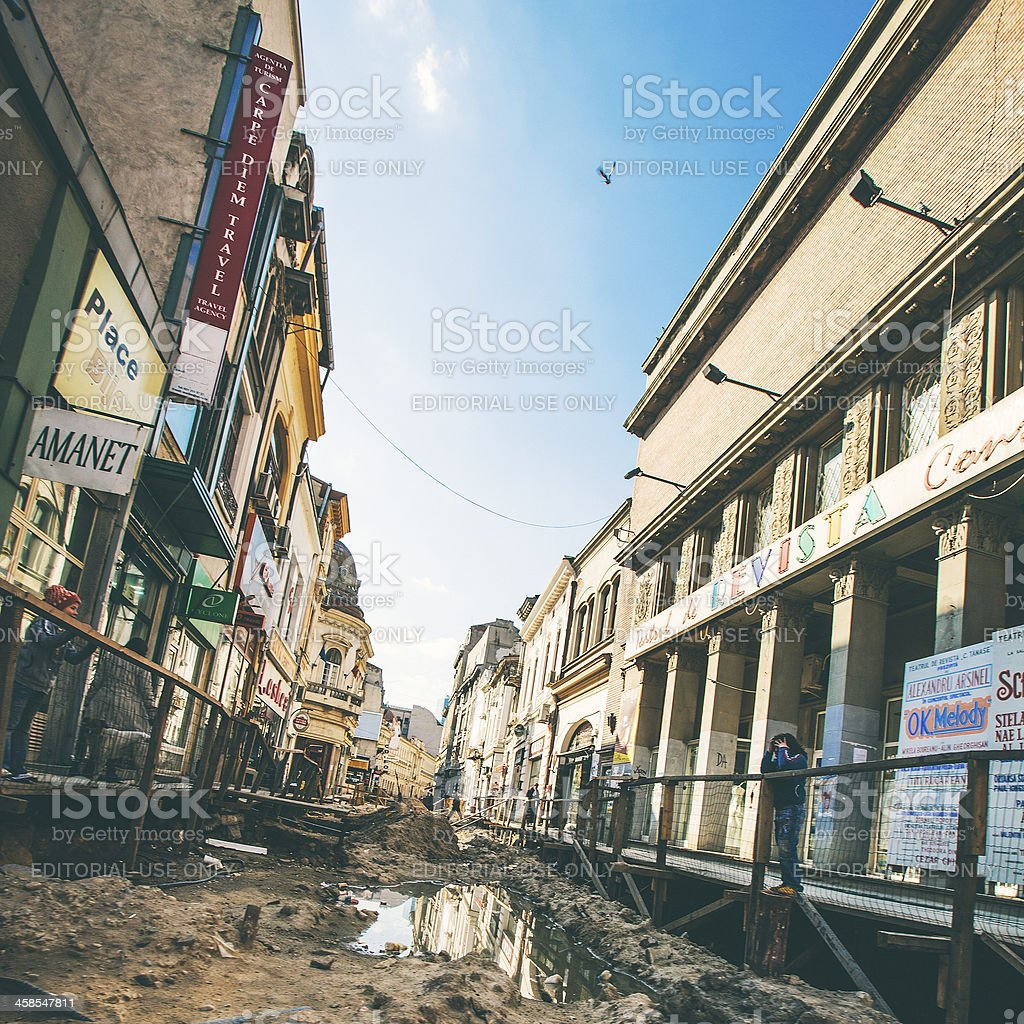 Streets of Bucharest. royalty-free stock photo