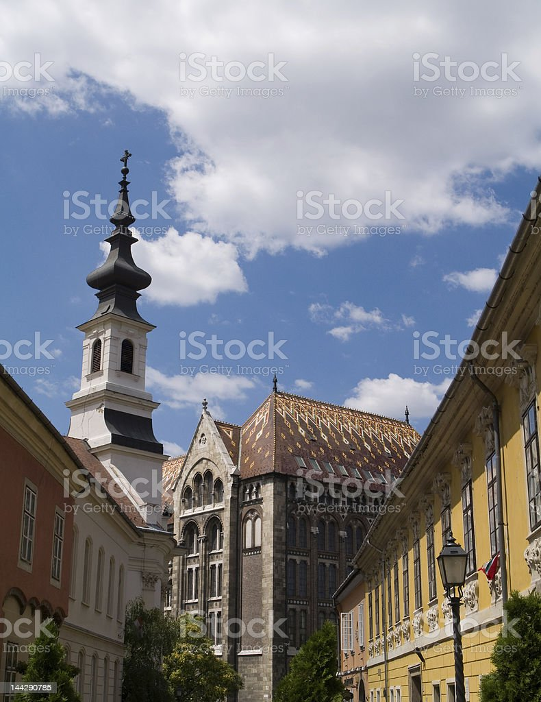 Streets of Buda Castle royalty-free stock photo