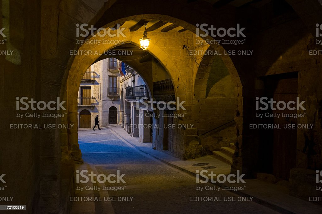 Streets of Calaceite stock photo
