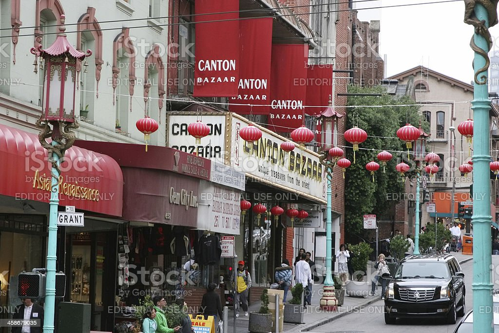 Streets of Chinatown, San Francisco, California stock photo