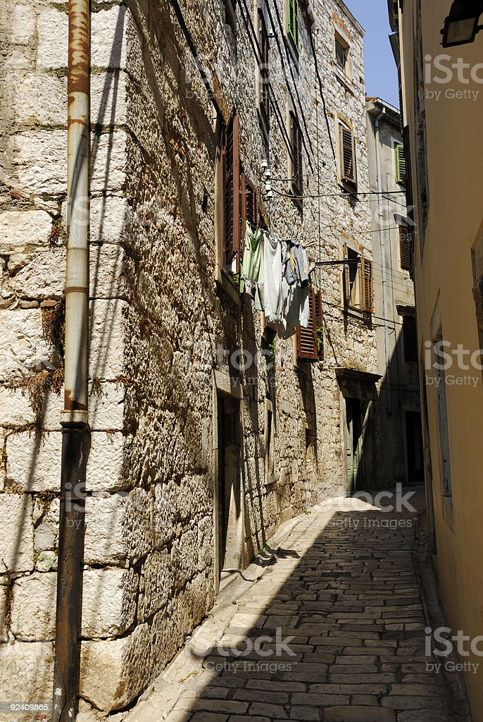 Streets of Croatia - Sibenik royalty-free stock photo