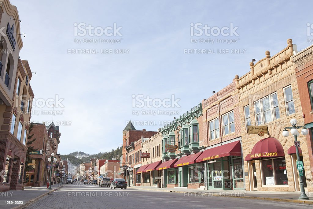 Streets of Deadwood, South Dakota stock photo