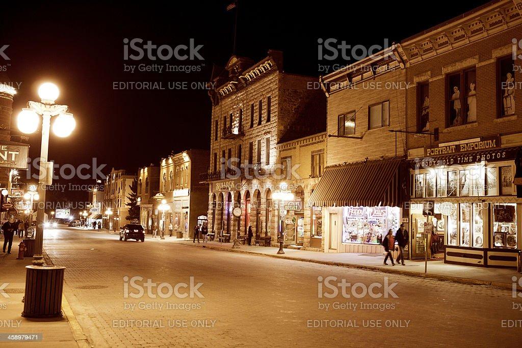 Streets of Deadwood, South Dakota royalty-free stock photo