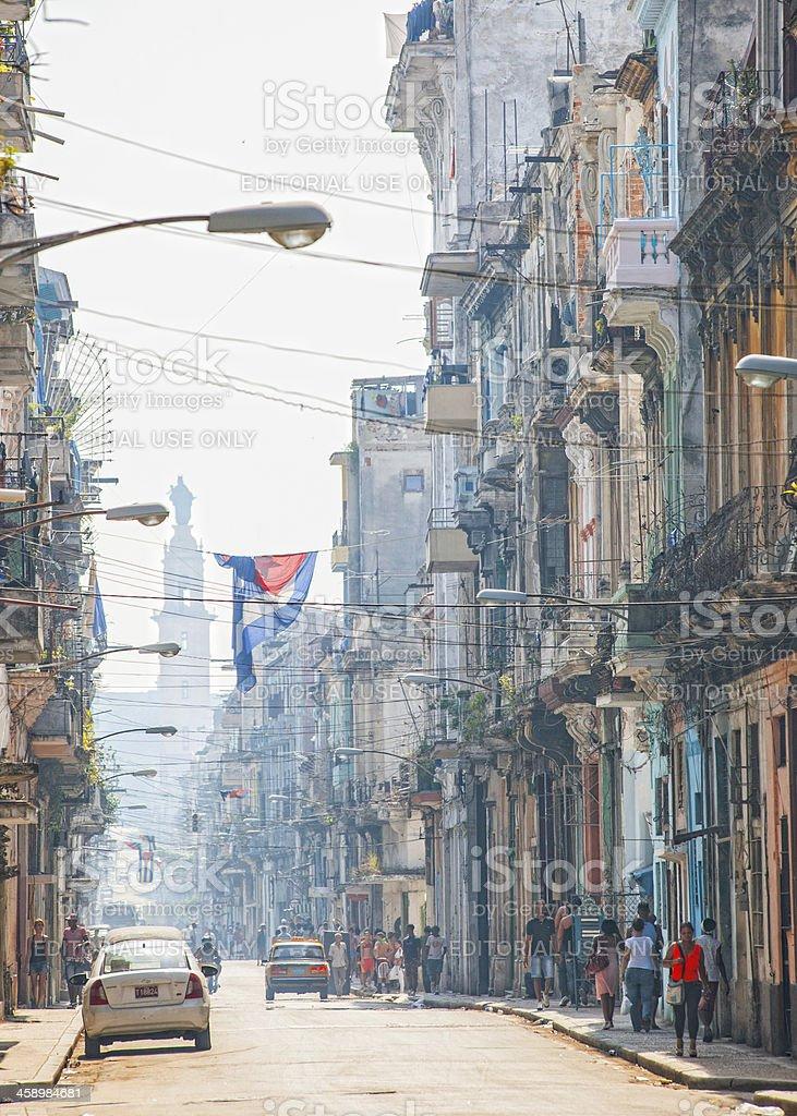 Streets of Havana. stock photo