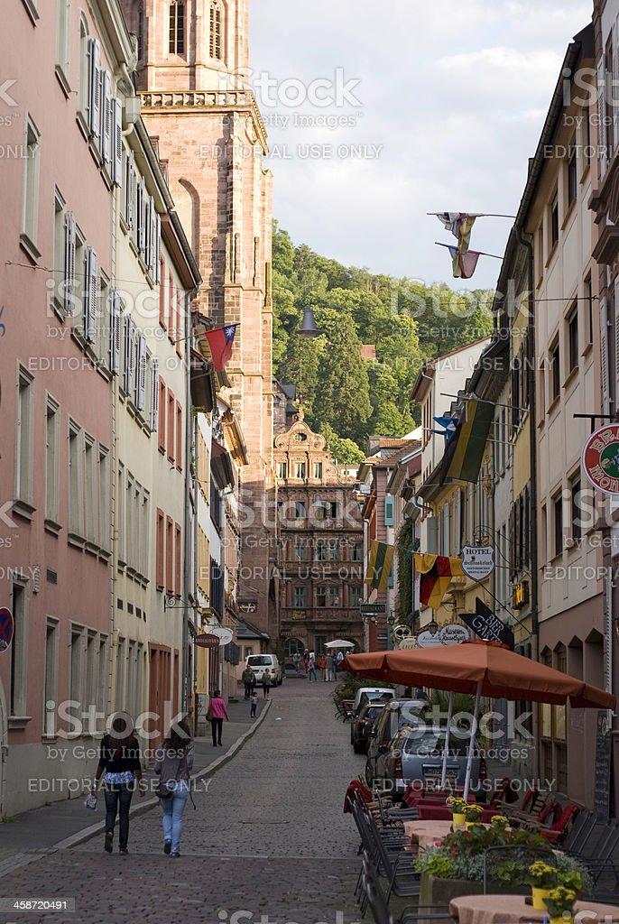 Streets of Heidelberg, Germany royalty-free stock photo