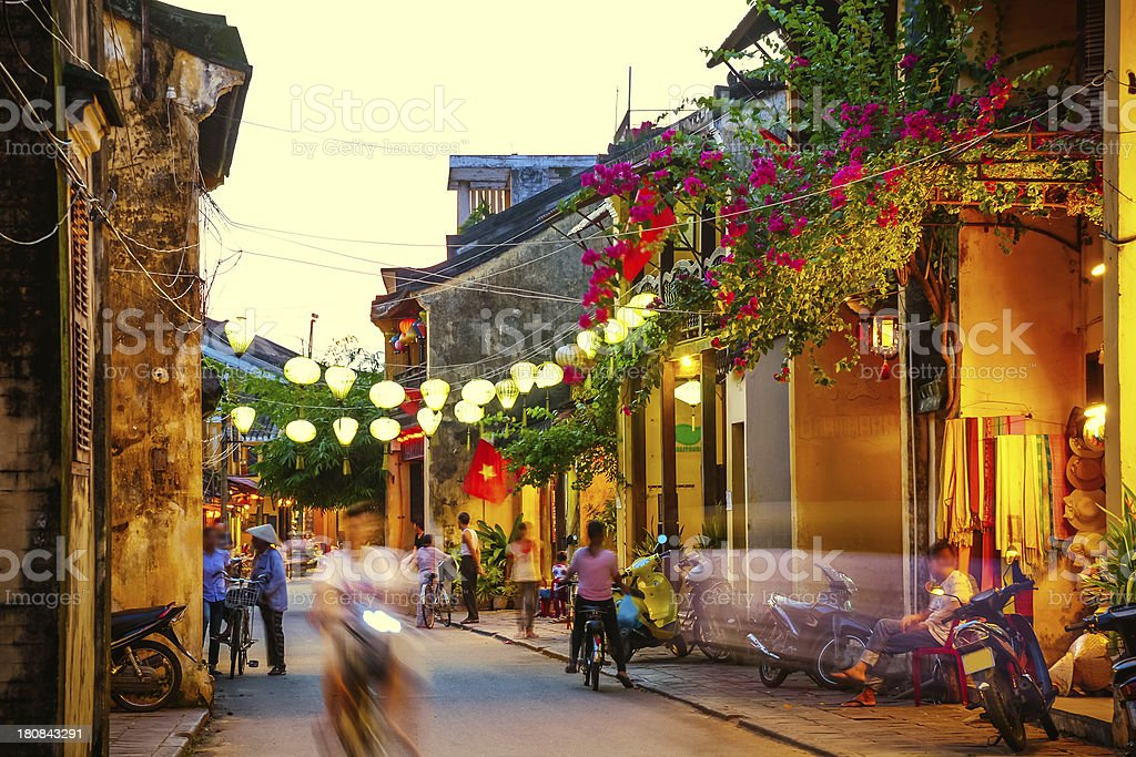 Streets of Hoi An, Vietnam stock photo