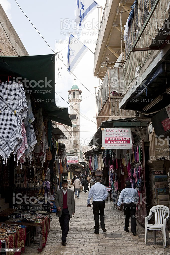 Streets of Jerusalem royalty-free stock photo