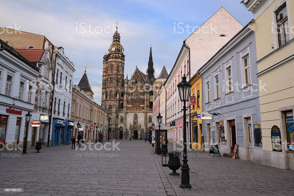 Streets of Kosice stock photo