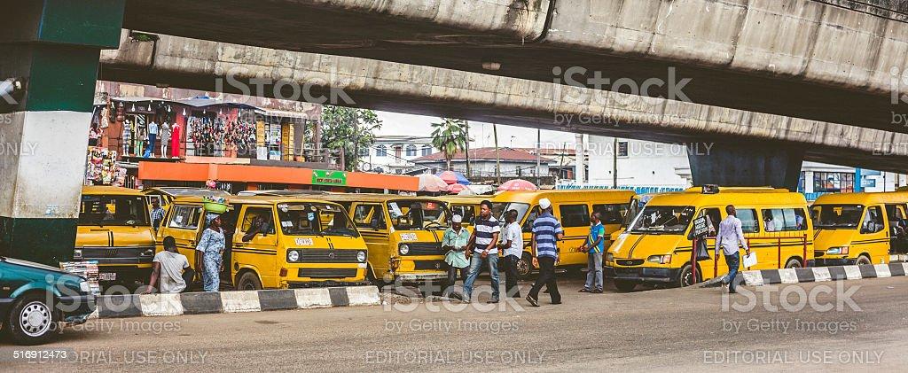 Streets of Lagos, Nigeria. stock photo
