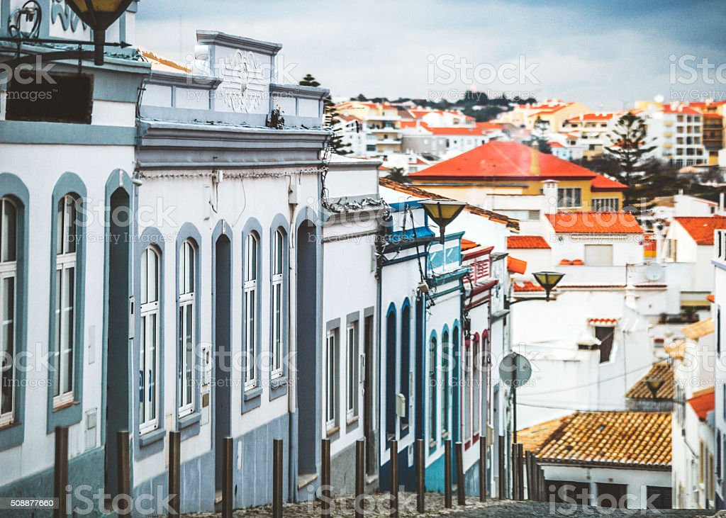 Streets of Lagos, Portugal. stock photo