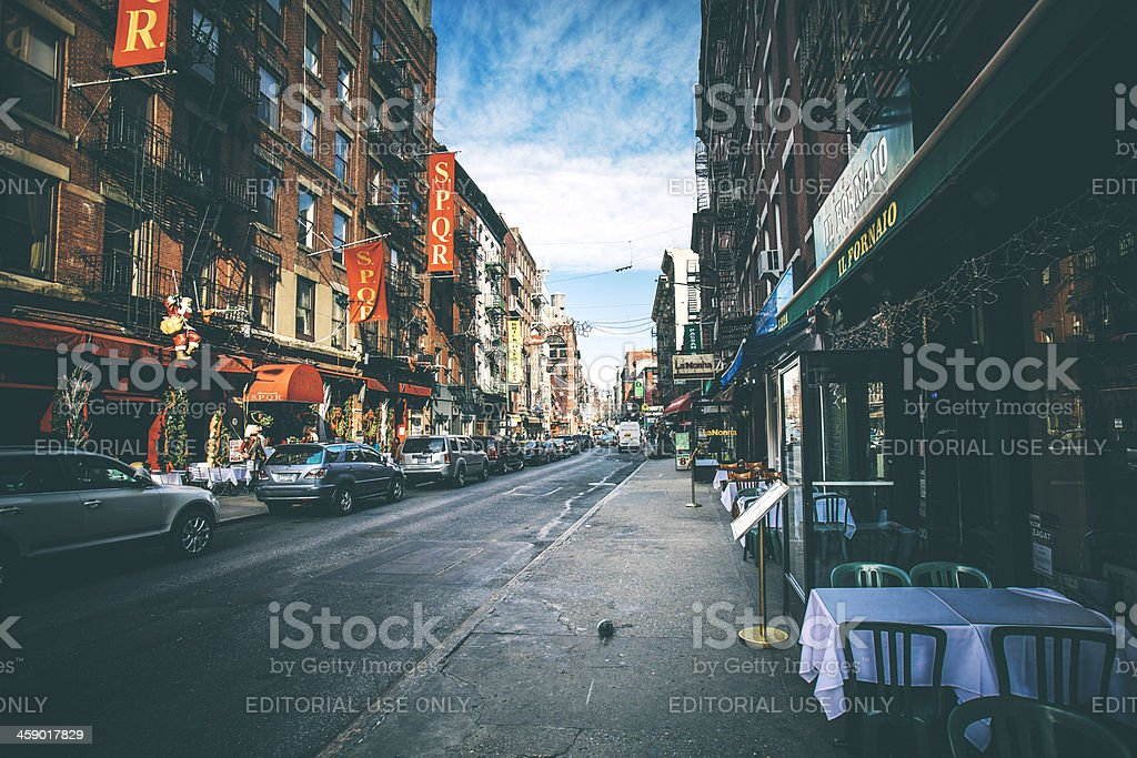 Streets of Little Italy. royalty-free stock photo