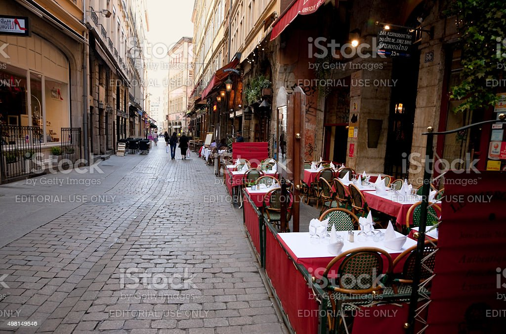 Streets of Lyon, France stock photo