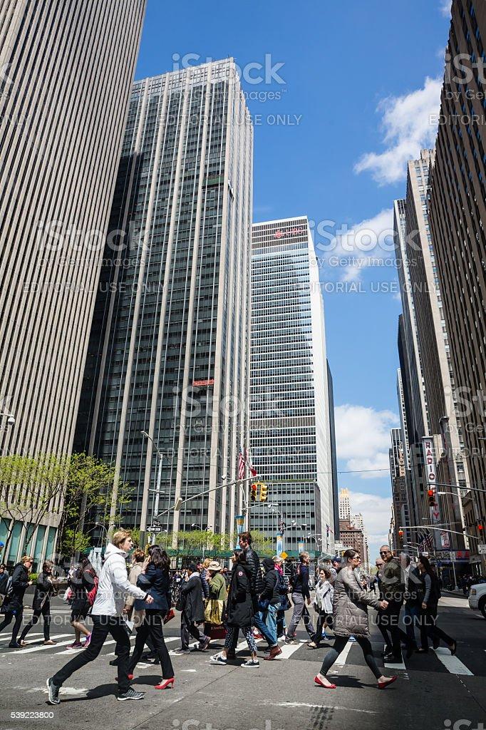 Streets of Manhattan. stock photo