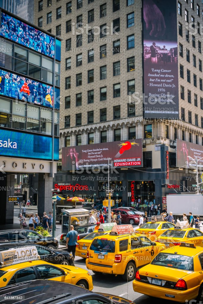 Streets of Manhattan stock photo