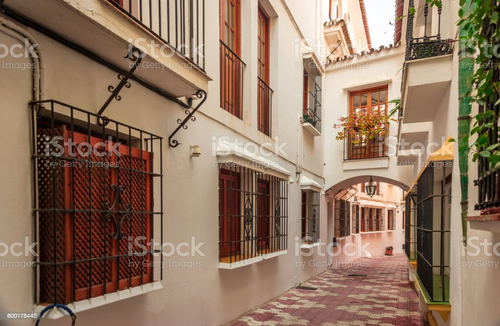 Streets of Marbella. stock photo