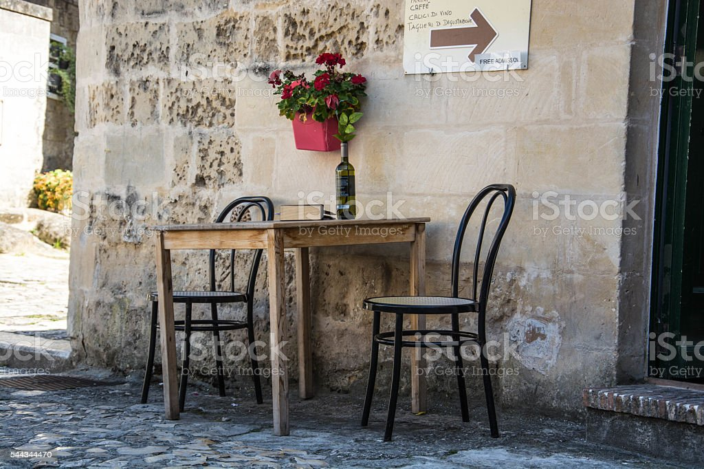 Streets of Matera, Italy stock photo