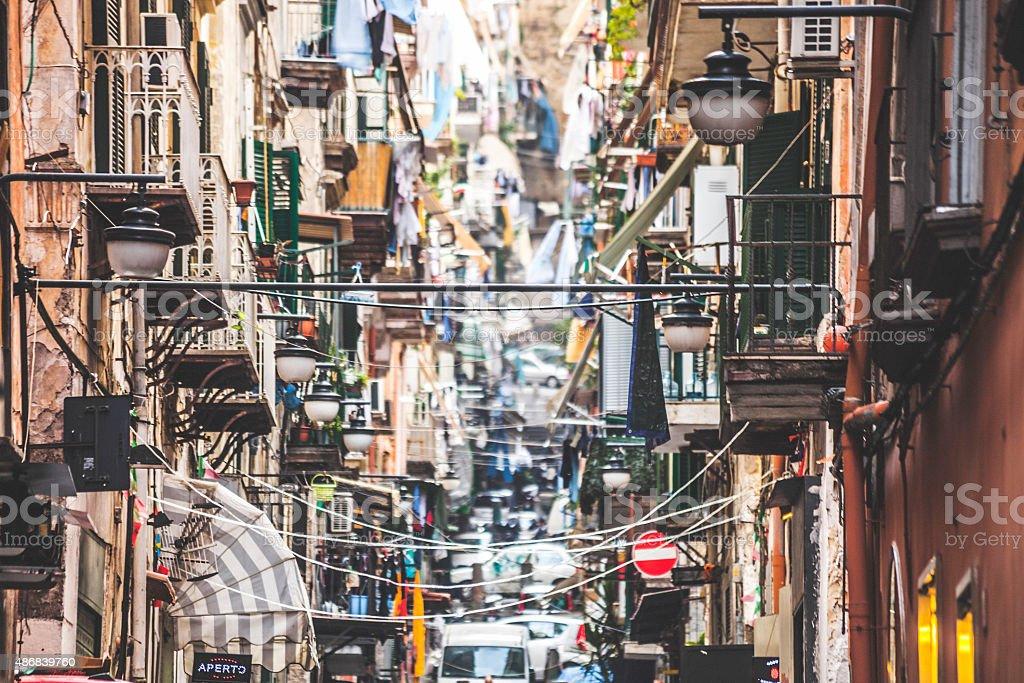Streets of Naples, Italy. stock photo